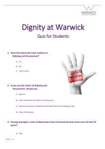 Dignity at Warwick Quiz for Students