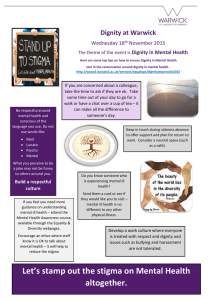 Dignity at Warwick Wednesday 18 November 2015 Dignity in Mental Health