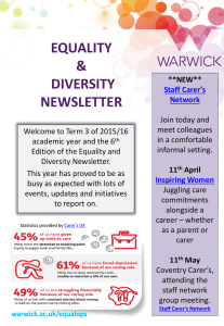 EQUALITY & DIVERSITY NEWSLETTER