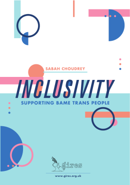 INCLUSIVITY SUPPORTING BAME  TRANS  PEOPLE SABAH  CHOUDREY 1