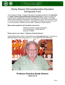 Sandy Dawson Ethnomathematics Education Scholarship Fund