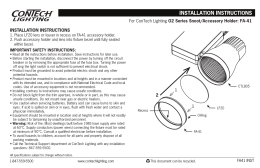 O2 Series Snoot/Accessory Holder: FA-41 INSTALLATION INSTRUCTIONS