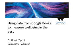 Using data from Google Books to measure wellbeing in the past