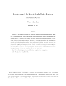 Inventories and the Role of Goods-Market Frictions for Business Cycles