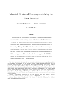 Mismatch Shocks and Unemployment during the Great Recession Francesco Furlanetto Nicolas Groshenny