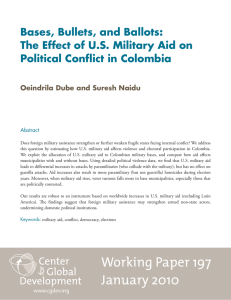 Bases, Bullets, and Ballots: The Effect of U.S. Military Aid on
