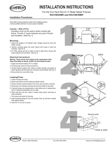 INSTALLATION INSTRUCTIONS For the Con-Tech  RA316E20MH and RA316E39MH