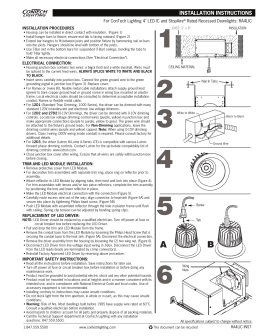 "For ConTech Lighting 4"" LED IC and StopAire INSTALLATION PROCEDURES"