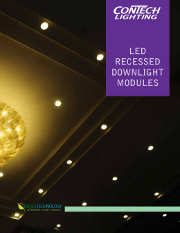 LED RECESSED DOWNLIGHT MODULES