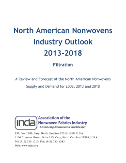 North American Nonwovens Industry Outlook 2013-2018 Filtration