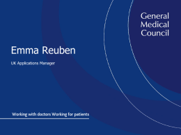 Emma Reuben UK Applications Manager