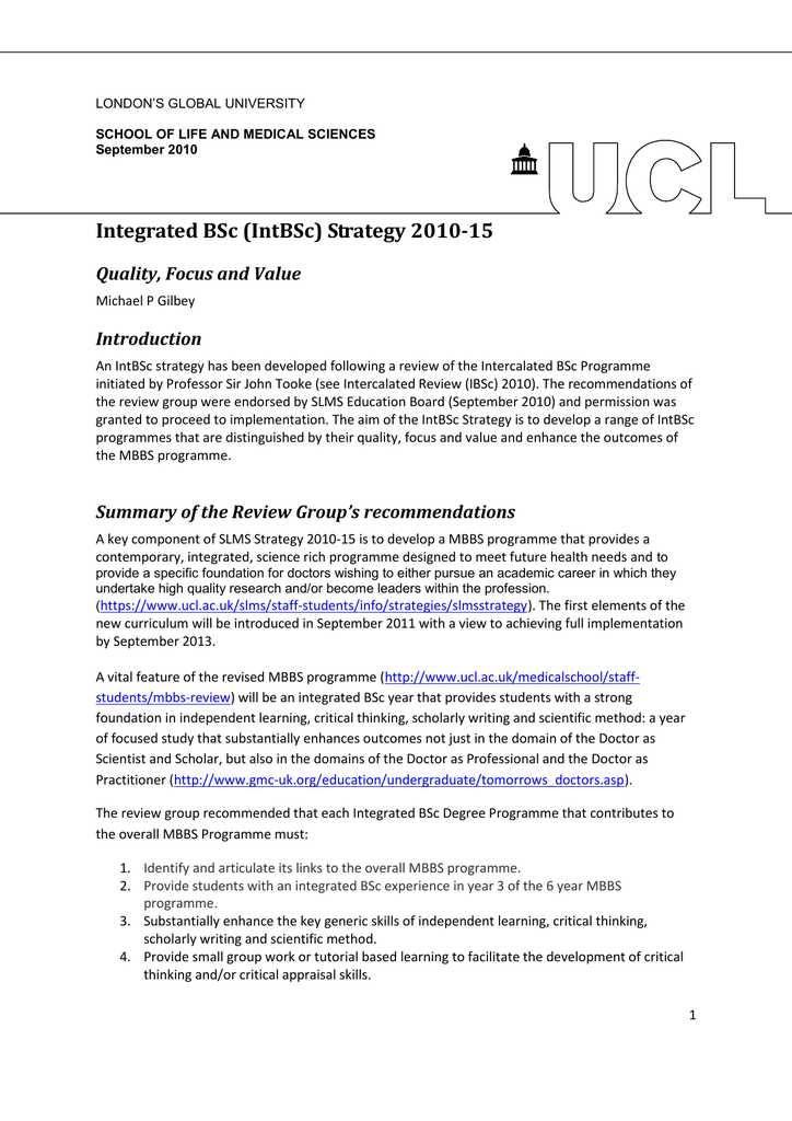 ucl ibsc personal statement