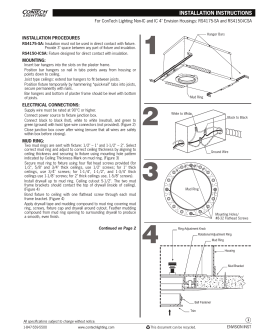 "For ConTech Lighting Non-IC and IC 4"" Envision Housings: RS4175-SA... INSTALLATION PROCEDURES MOUNTING:"