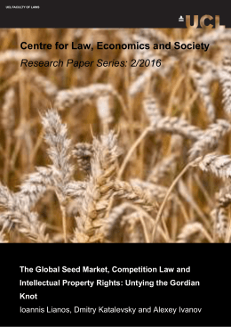 Centre for Law, Economics and Society Research Paper Series: 2/2016