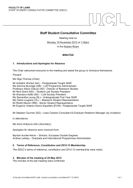 Staff Student Consultative Committee