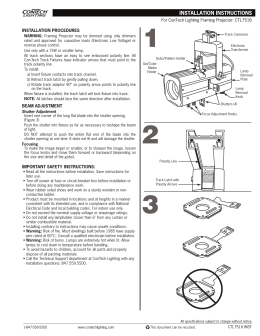 For ConTech Lighting Framing Projector: CTL7516 INSTALLATION PROCEDURES