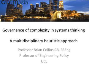 Governance of complexity in systems thinking  A multidisciplinary heuristic approach