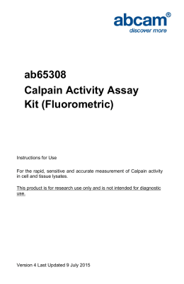 ab65308 Calpain Activity Assay Kit (Fluorometric)