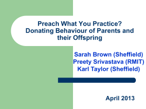 Preach What You Practice? Donating Behaviour of Parents and their Offspring