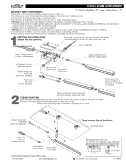 For ConTech Lighting LED Linear Lighting Series: LPL IMPORTANT SAFETY INSTRUCTIONS: