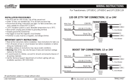 WIRING INSTRUCTIONS 120 OR 277V TAP CONNECTION; 12 or 24V INSTALLATION PROCEDURES