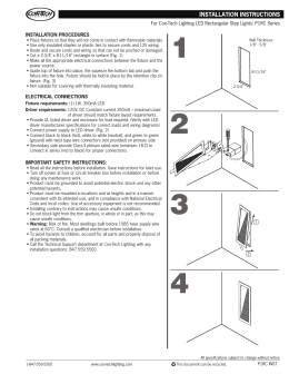 INSTALLATION PROCEDURES For Con-Tech Lighting LED Rectangular Step Lights: P1RC Series