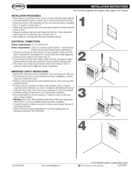 INSTALLATION PROCEDURES For Con-Tech Lighting LED Square Step Lights: P1ST Series