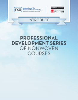 PROFESSIONAL DEVELOPMENT SERIES OF NONWOVEN COURSES