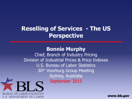 Reselling of Services  - The US Perspective Bonnie Murphy