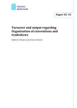 Turnover and output regarding Organisation of conventions and tradeshows Paper VG '15
