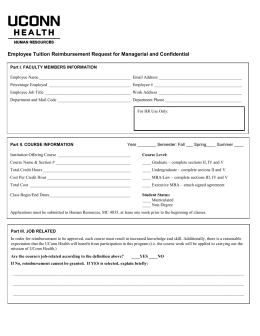 Employee Tuition Reimbursement Request for Managerial and Confidential