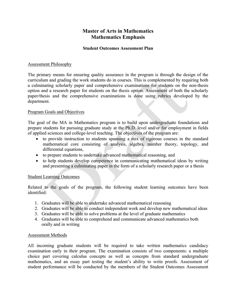 Working And Non Student Thesi Title Idea For College Undergraduate Mathematic Dissertation