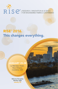 RISE 2016. This changes everything. JANUARY 25-28