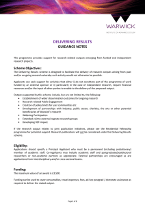 DELIVERING RESULTS GUIDANCE NOTES