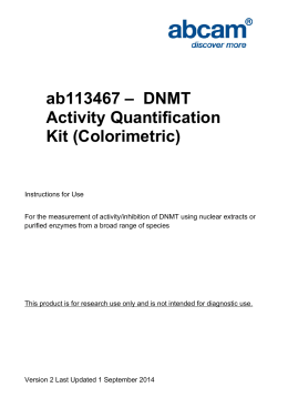 ab113467 –  DNMT Activity Quantification Kit (Colorimetric)