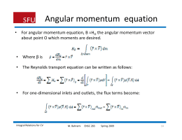 Angular momentum  equation
