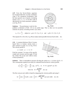 4.35 for incompressible flow in polar coordinates
