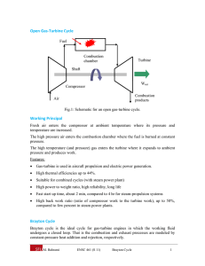 Open Gas‐Turbine Cycle