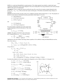 compression refrigeration system using refrigerant-134a as the working fluid. The... 14-93