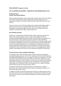 FINAL REPORT (1 page overview)  Dr Michael Scott