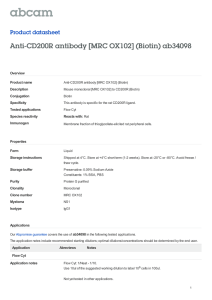 Anti-CD200R antibody [MRC OX102] (Biotin) ab34098 Product datasheet Overview Product name