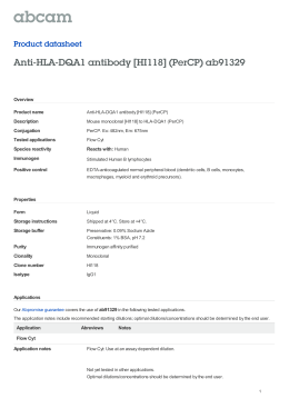 Anti-HLA-DQA1 antibody [HI118] (PerCP) ab91329 Product datasheet Overview Product name