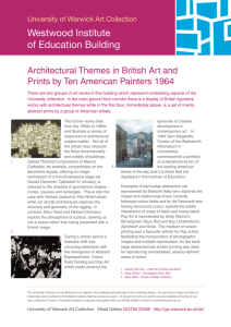 Westwood Institute of Education Building Architectural Themes in British Art and