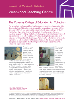 Westwood Teaching Centre The Coventry College of Education Art Collection