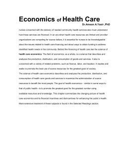 Economics Health Care of Dr.Amean A.Yasir ,PhD