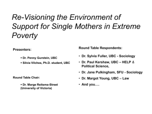 Re-Visioning the Environment of Support for Single Mothers in Extreme Poverty