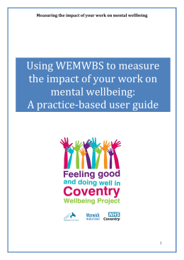 Using WEMWBS to measure the impact of your work on mental wellbeing: