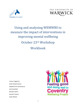 Using and analysing WEMWBS to measure the impact of interventions in