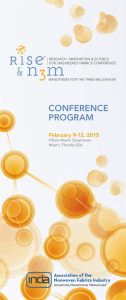 CONFERENCE PROGRAM February 9-12, 2015 Hilton Miami Downtown
