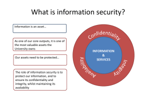 What is information security?